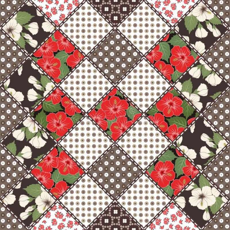 Kreatywnie bezszwowy patchworku wzór royalty ilustracja