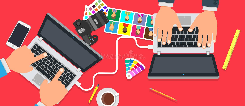 Kreatywnie biuro drużyny projekta ludzie Biznesowy praca zespołowa sukcesu wektoru tło Technologia współpracy brainstorming pojęc ilustracji