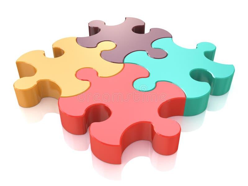 Kreatywnie biznes, biuro, praca zespołowa, partnerstwo i communicati, ilustracja wektor