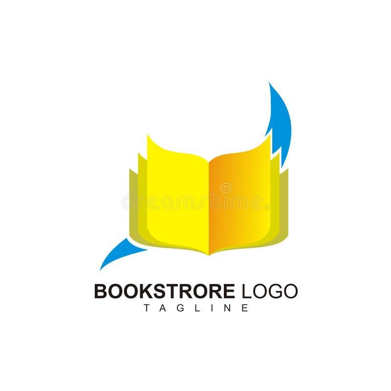 Kreatywnie bookstore logo ilustracja wektor