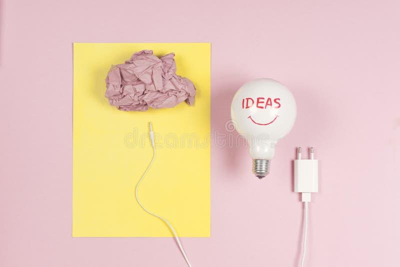 Kreatywnie brainstorm pojęcia biznesowy pomysł, innowacja i rozwiązanie, kreatywnie projekt, ilustracja zdjęcia stock
