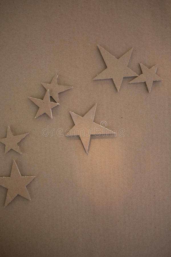 Kreatywnie dekoracje karton zdjęcia stock