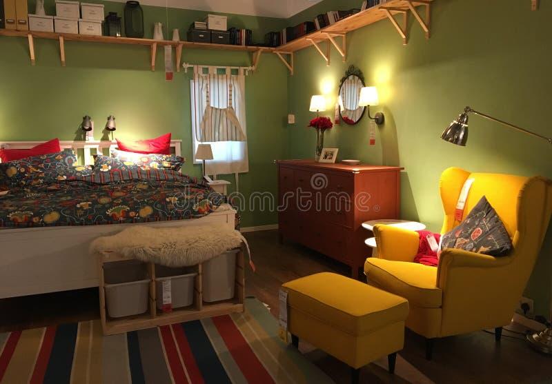 Kreatywnie dotyk sypialnia wewnętrzny projekt obraz royalty free