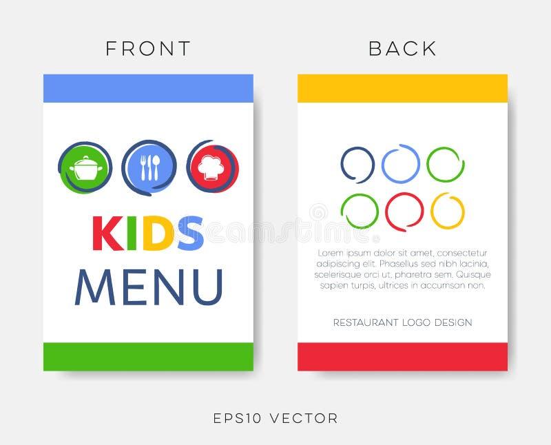 Kreatywnie dzieciaki restauracyjny menu lub broszurka szablon ilustracja wektor