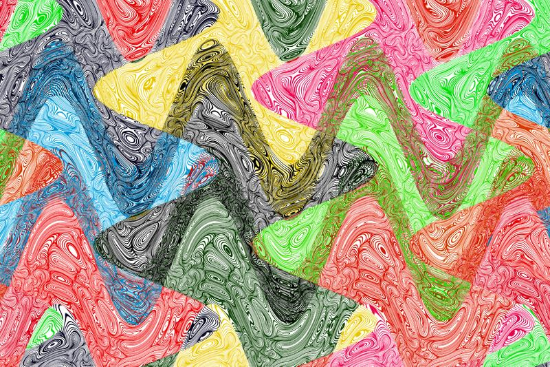 Kreatywnie Falisty Kolorowy tło zdjęcia royalty free