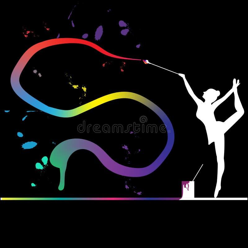 Kreatywnie gimnastyki obraz royalty free