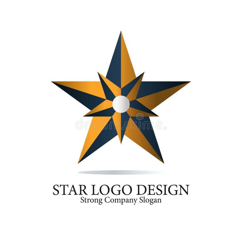 Kreatywnie Gwiazdowy loga projekta pomysł ilustracji