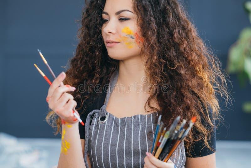 Kreatywnie hobby inspiracji artysty paintbrush obrazy stock