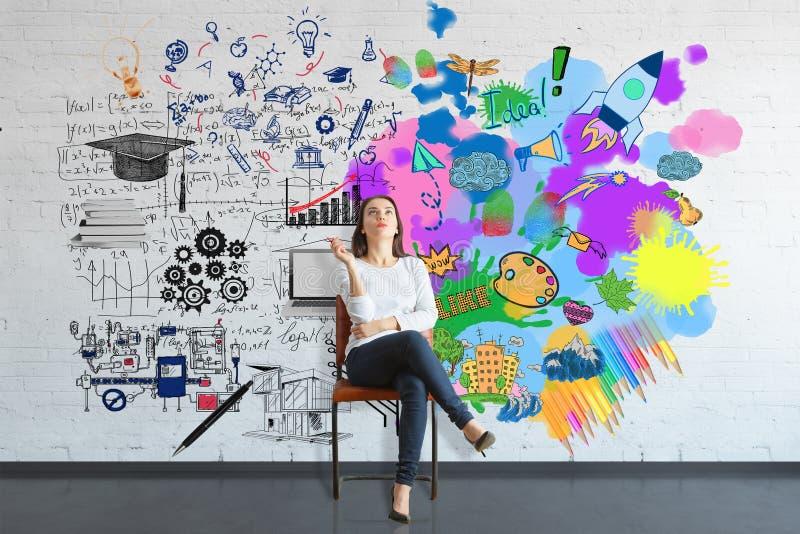 Kreatywnie i analytical główkowania pojęcie obraz stock