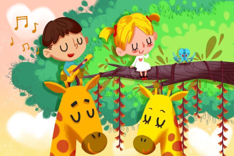 Kreatywnie ilustracja i Nowatorska sztuka: Szczęśliwy walentynka dzień royalty ilustracja
