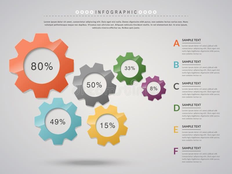 Kreatywnie infographic projekt ilustracja wektor