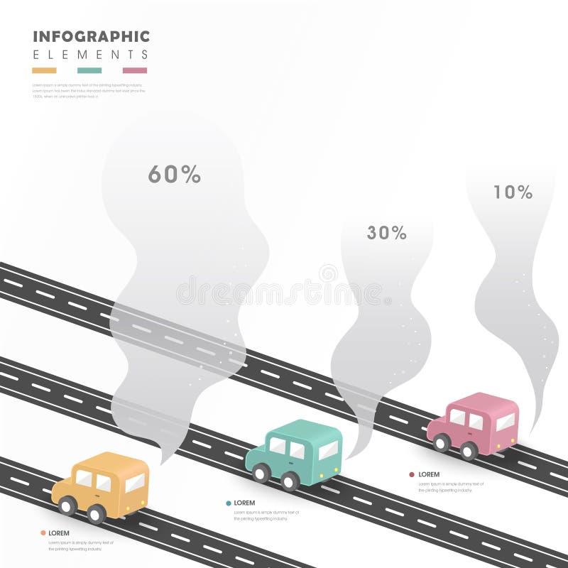 Kreatywnie infographic projekt royalty ilustracja
