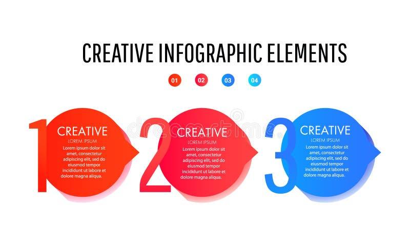 Kreatywnie Infographic szablon Set minimalni ciek?ego gradientu plu?ni?cia ilustracja wektor