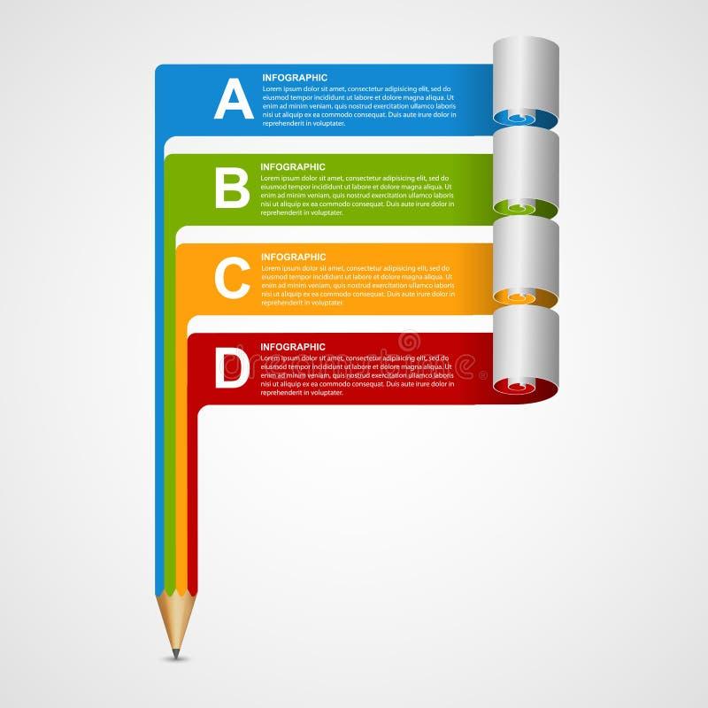 Kreatywnie Infographics projekta szablon ilustracja wektor