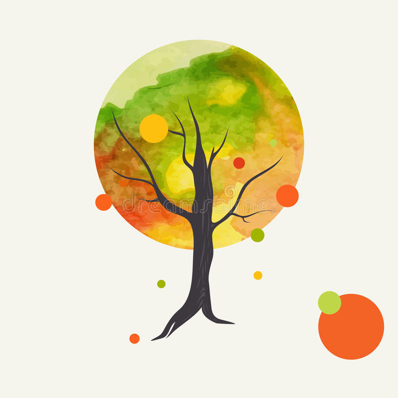 kreatywnie jesień tło royalty ilustracja
