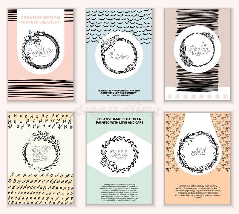 Kreatywnie karty royalty ilustracja