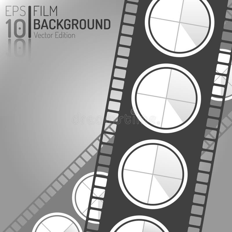 Kreatywnie Kinowy tło projekt Wektorowi elementy Minimalna Odosobniona Ekranowa ilustracja EPS10 ilustracji