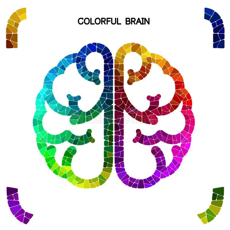 Kreatywnie kolorowego lewego mózg i prawego mózg pomysłu pojęcia backgr ilustracji