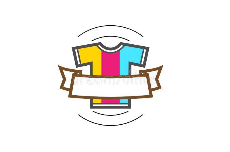 Kreatywnie Kolorowy Koszulowy Jedwabniczego ekranu logo ilustracja wektor