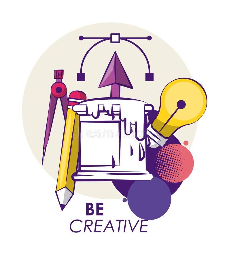 Kreatywnie kolory i pomysły royalty ilustracja
