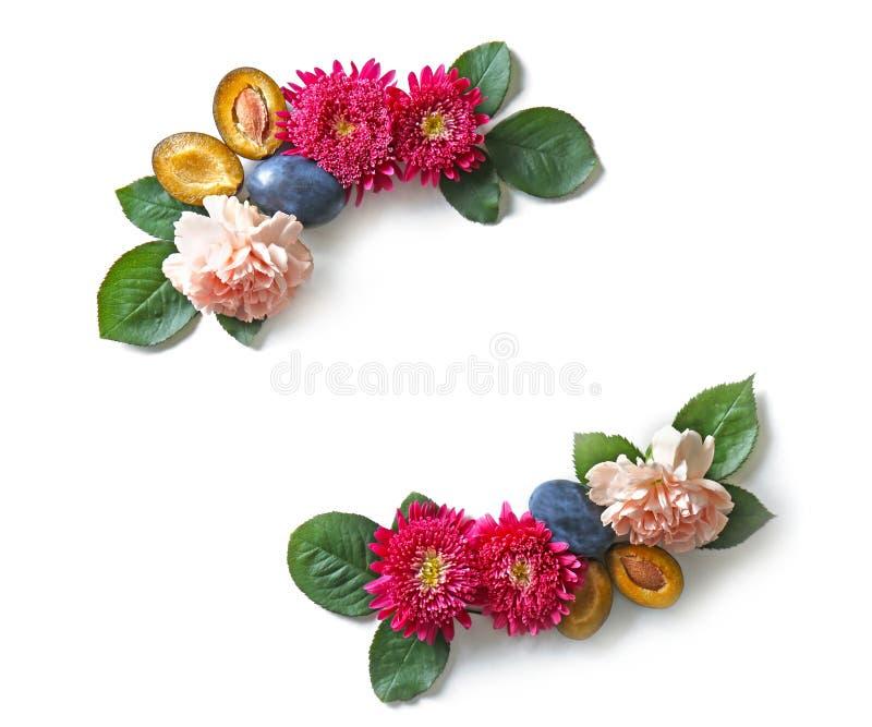 Kreatywnie kwiatu skład odizolowywający fotografia royalty free