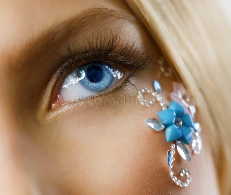 kreatywnie kwiecisty makeup fotografia royalty free