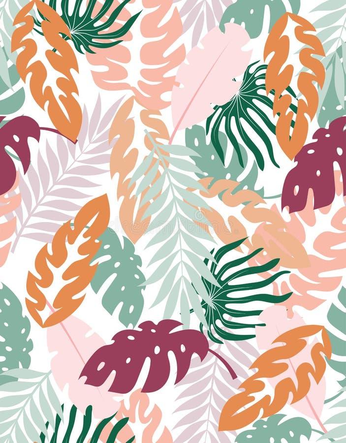 Kreatywnie kwiecisty t?o tropikalny ilustracji