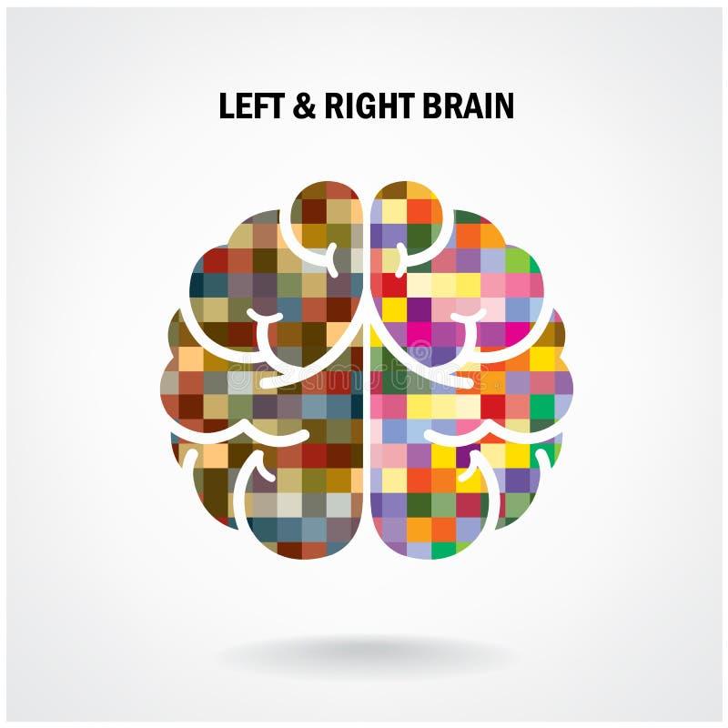 Kreatywnie lewy mózg i prawy mózg royalty ilustracja