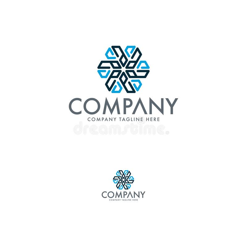 Kreatywnie list A i, śnieżny chłodniczego powietrza warunku logo ilustracji