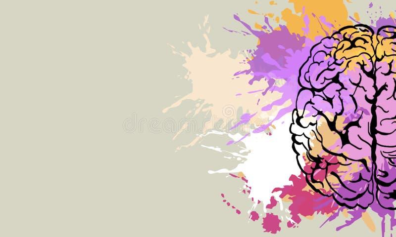Kreatywnie m??d?kowy doodle ilustracja wektor