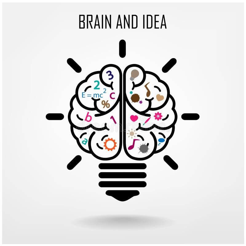 Kreatywnie móżdżkowy pomysłu pojęcia tło royalty ilustracja