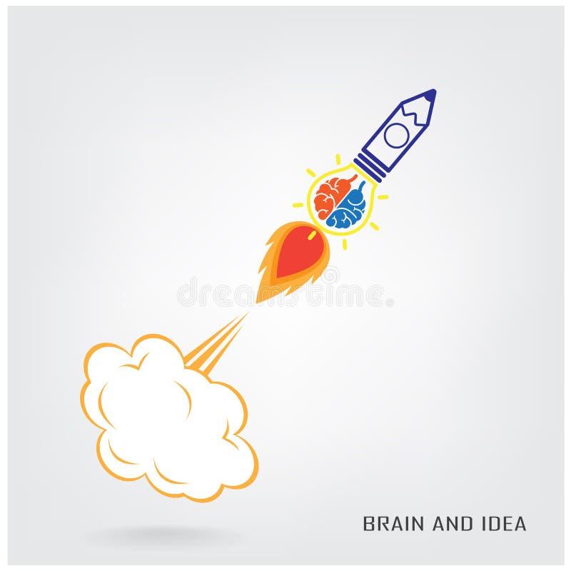 Kreatywnie móżdżkowy pomysłu pojęcie ilustracji