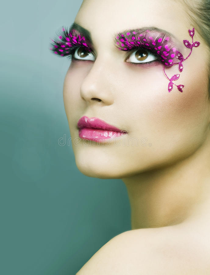 kreatywnie makeup zdjęcia stock