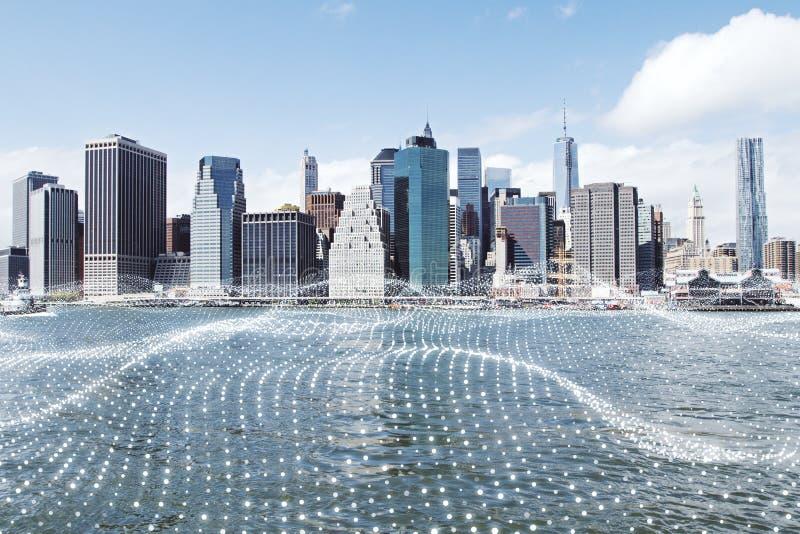Kreatywnie miasta tło fotografia stock