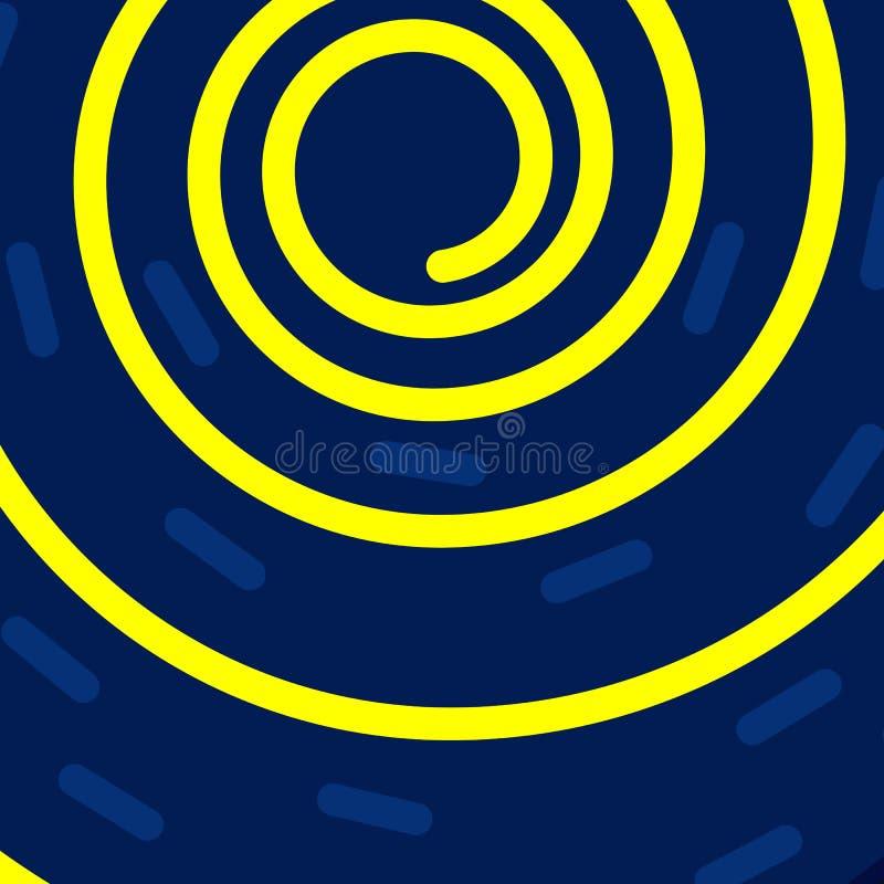 Kreatywnie minimalny kolorowy wektorowy tło z spiralą ilustracja wektor