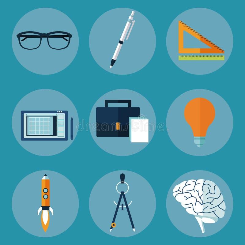 Kreatywnie multimedialne pomysł ikony ilustracja wektor