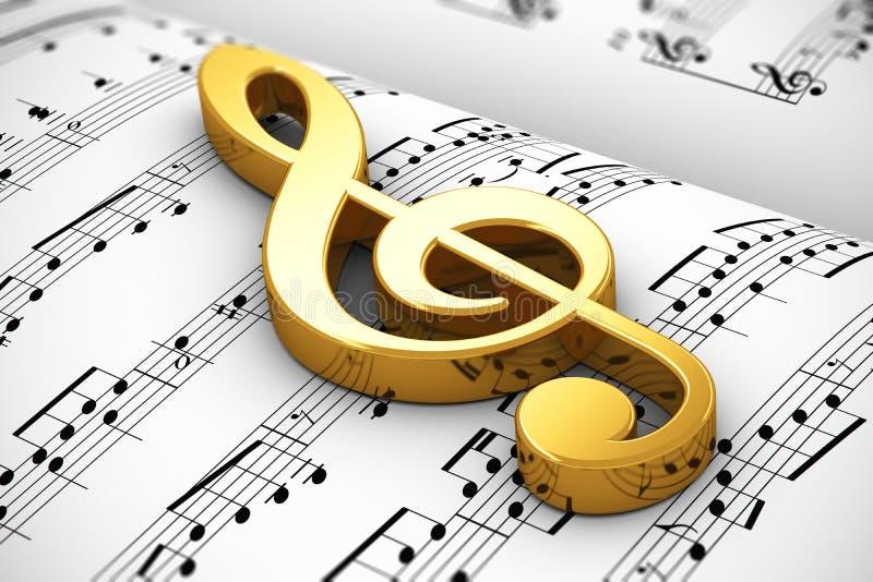 Muzykalny pojęcie royalty ilustracja