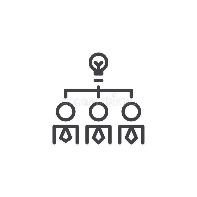 Kreatywnie myśl konturu ikona royalty ilustracja