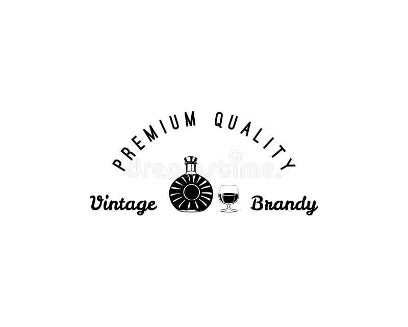 Kreatywnie nakreślenie brandy skład również zwrócić corel ilustracji wektora Ręka rysunku set używać dla reklamować pije premii i royalty ilustracja