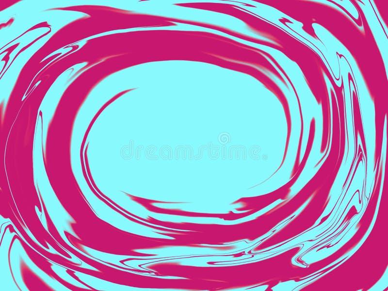 Kreatywnie neonowy lub holograficzny okręgu tło royalty ilustracja