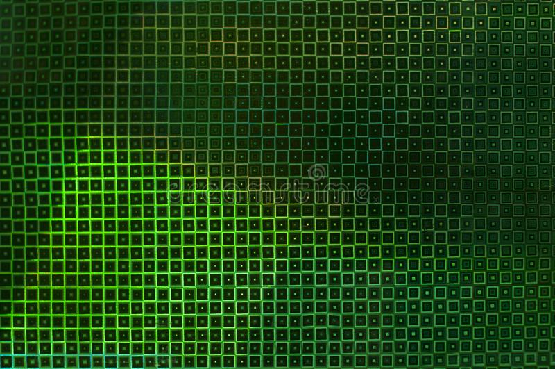Kreatywnie niezwykły zielony tło jarzyć się kwadraty zdjęcie royalty free