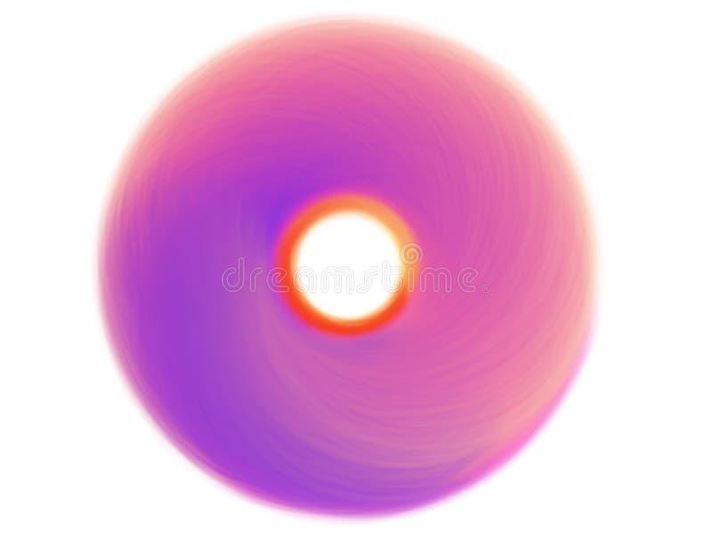 Kreatywnie okręgu abstrakcjonistyczny kolorowy szczotkować Akwareli round uderzenie ilustracji