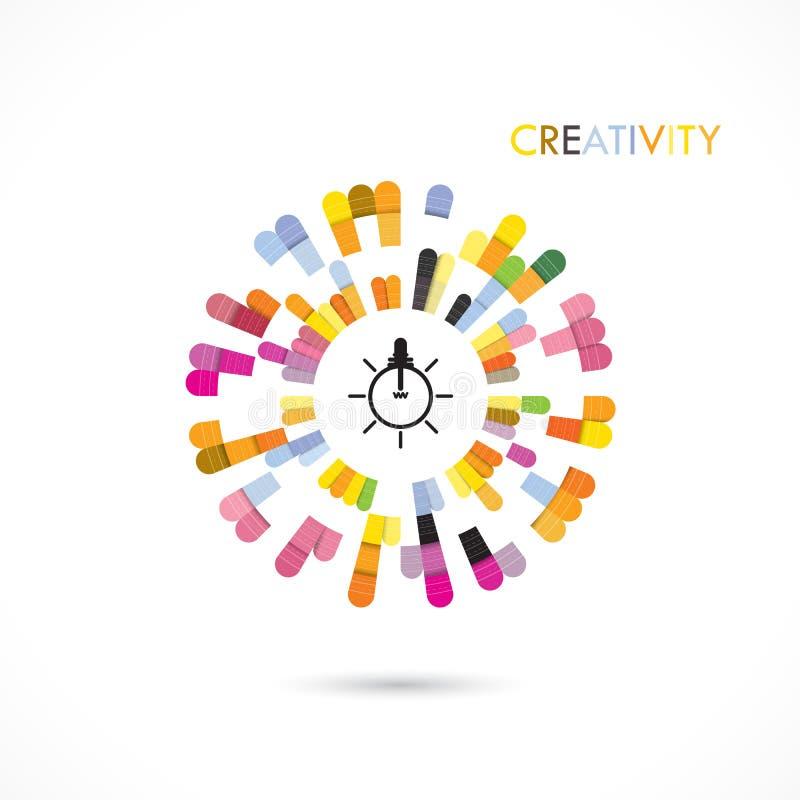 Kreatywnie okręgu loga projekta abstrakcjonistyczny wektorowy szablon ilustracji