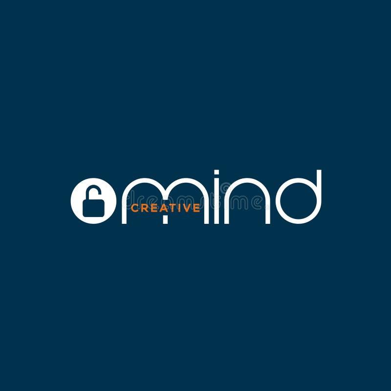 Kreatywnie otwartego umysłu logo projekt ilustracji