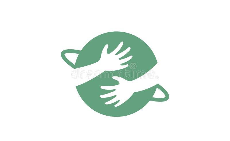 Kreatywnie planet dzieci ręki Trzyma loga projekt ilustracji