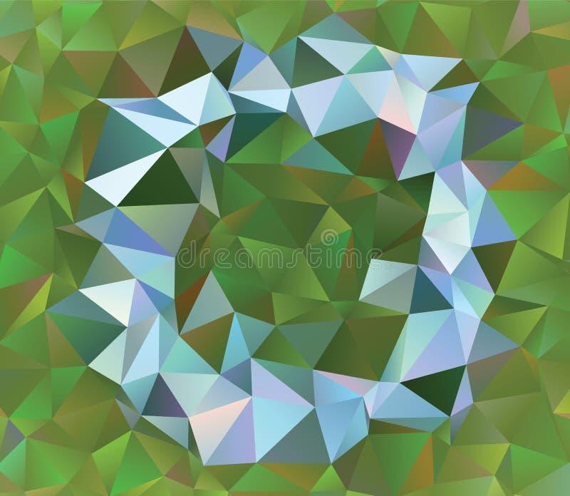 Kreatywnie poligonalny abstrakcjonistyczny tło Niski poli- kryształu wzór zdjęcia royalty free