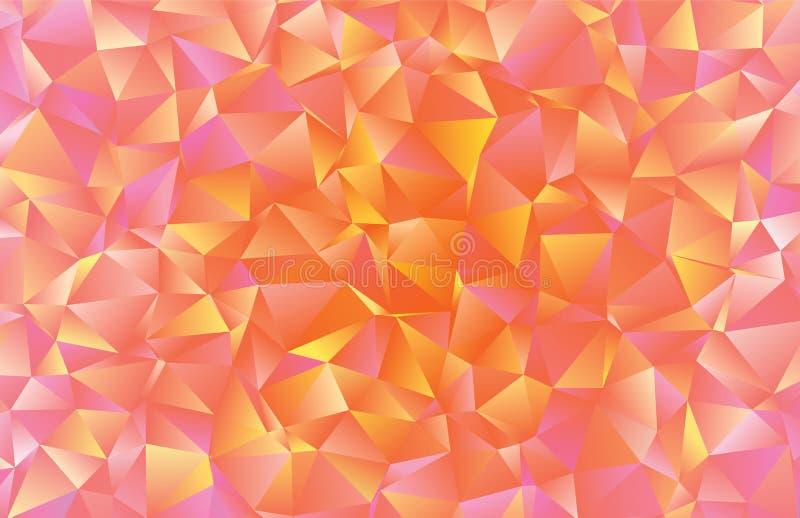 Kreatywnie poligonalny abstrakcjonistyczny tło Niski poli- kryształu wzór obrazy stock
