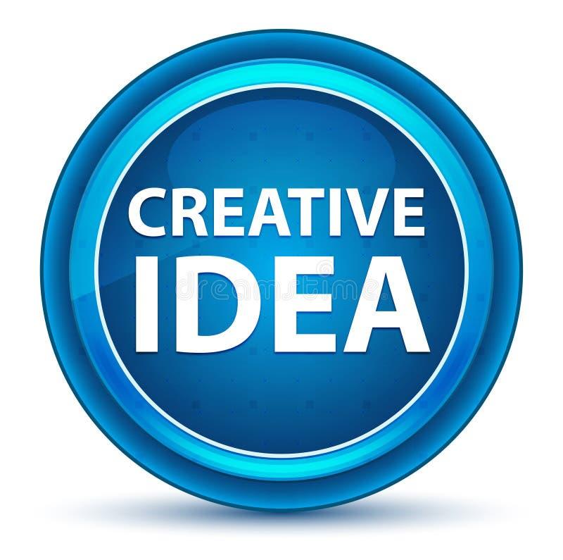 Kreatywnie pomysł gałki ocznej Round Błękitny guzik ilustracji