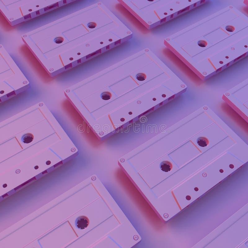 Kreatywnie pomysł kasety taśmy Minimalny pojęcie zdjęcie stock