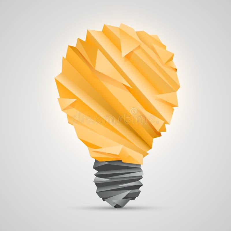 Kreatywnie pomysł origami lampa royalty ilustracja